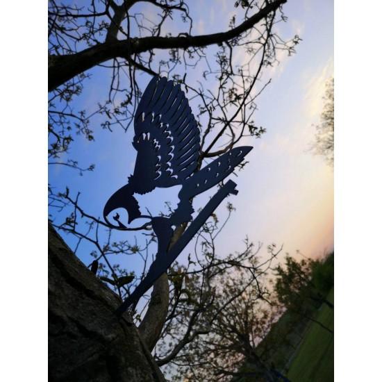Метален силует Бяла сова