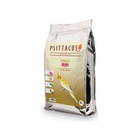 3кг. Psittacus Mini Maintenance Formula: пълноценна храна за малки папагали